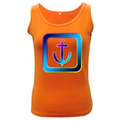 Icon Anchor Containing Fixing Women s Dark Tank Top by Nexatart