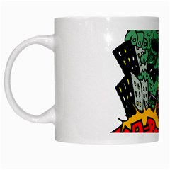 Monster White Mugs
