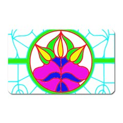 Pattern Template Stained Glass Magnet (rectangular) by Nexatart