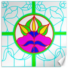 Pattern Template Stained Glass Canvas 20  X 20   by Nexatart