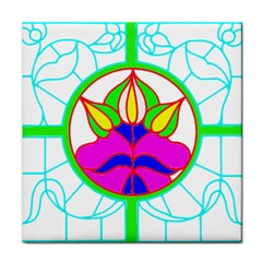 Pattern Template Stained Glass Face Towel