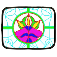 Pattern Template Stained Glass Netbook Case (xl)