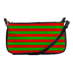 Pattern Lines Red Green Shoulder Clutch Bags