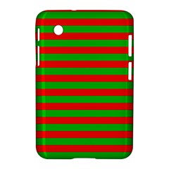 Pattern Lines Red Green Samsung Galaxy Tab 2 (7 ) P3100 Hardshell Case  by Nexatart