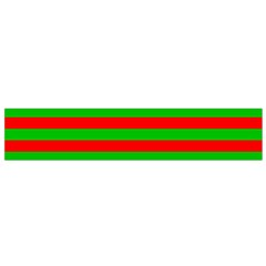 Pattern Lines Red Green Flano Scarf (small) by Nexatart