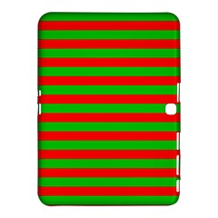 Pattern Lines Red Green Samsung Galaxy Tab 4 (10 1 ) Hardshell Case  by Nexatart
