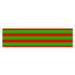 Pattern Lines Red Green Satin Scarf (oblong)