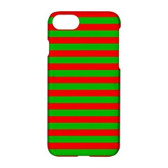 Pattern Lines Red Green Apple Iphone 7 Hardshell Case