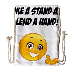 Take A Stand! Drawstring Bag (large) by athenastemple