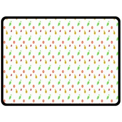Fruit Pattern Vector Background Double Sided Fleece Blanket (large)