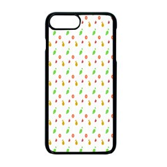Fruit Pattern Vector Background Apple Iphone 7 Plus Seamless Case (black) by Nexatart