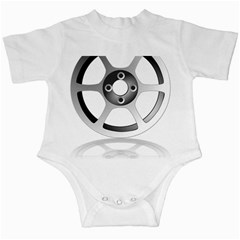 Car Wheel Chrome Rim Infant Creepers