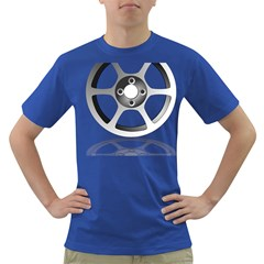 Car Wheel Chrome Rim Dark T Shirt