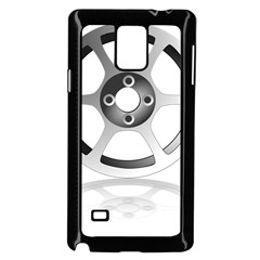 Car Wheel Chrome Rim Samsung Galaxy Note 4 Case (black) by Nexatart