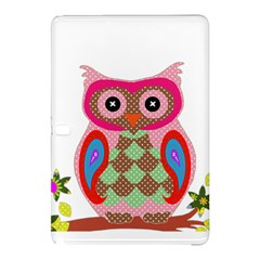 Owl Colorful Patchwork Art Samsung Galaxy Tab Pro 10 1 Hardshell Case by Nexatart