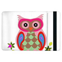 Owl Colorful Patchwork Art Ipad Air Flip by Nexatart