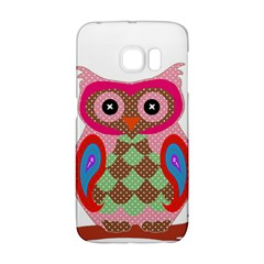 Owl Colorful Patchwork Art Galaxy S6 Edge by Nexatart