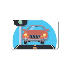 Semaphore Car Road City Traffic Magnet (name Card)