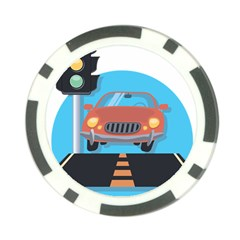 Semaphore Car Road City Traffic Poker Chip Card Guard (10 Pack) by Nexatart