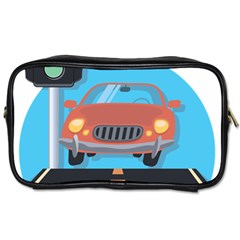 Semaphore Car Road City Traffic Toiletries Bags 2 Side by Nexatart