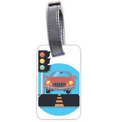 Semaphore Car Road City Traffic Luggage Tags (two Sides)
