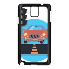 Semaphore Car Road City Traffic Samsung Galaxy Note 3 N9005 Case (black) by Nexatart