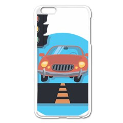 Semaphore Car Road City Traffic Apple Iphone 6 Plus/6s Plus Enamel White Case by Nexatart
