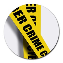 Internet Crime Cyber Criminal Round Mousepads