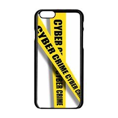 Internet Crime Cyber Criminal Apple Iphone 6/6s Black Enamel Case