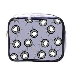 Rocket Ship Wallpaper Background Mini Toiletries Bags by Nexatart