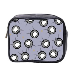 Rocket Ship Wallpaper Background Mini Toiletries Bag 2 Side by Nexatart