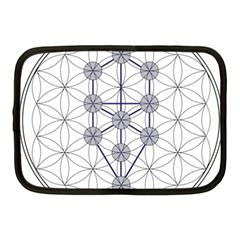 Tree Of Life Flower Of Life Stage Netbook Case (medium)  by Nexatart
