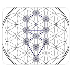 Tree Of Life Flower Of Life Stage Double Sided Flano Blanket (small)