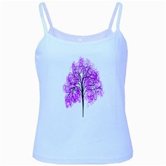 Purple Tree Baby Blue Spaghetti Tank