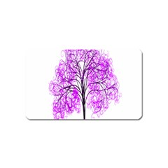 Purple Tree Magnet (name Card)