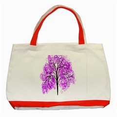 Purple Tree Classic Tote Bag (red) by Nexatart