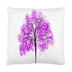 Purple Tree Standard Cushion Case (two Sides) by Nexatart