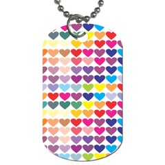 Heart Love Color Colorful Dog Tag (two Sides) by Nexatart