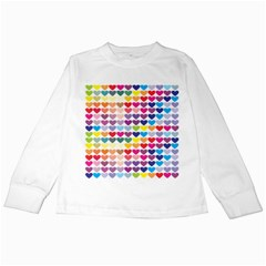 Heart Love Color Colorful Kids Long Sleeve T-shirts by Nexatart