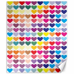 Heart Love Color Colorful Canvas 20  X 24   by Nexatart