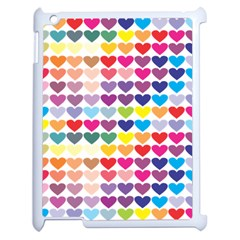 Heart Love Color Colorful Apple Ipad 2 Case (white) by Nexatart