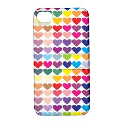 Heart Love Color Colorful Apple Iphone 4/4s Hardshell Case With Stand