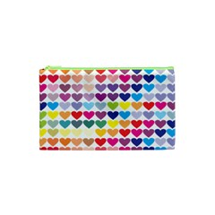 Heart Love Color Colorful Cosmetic Bag (xs) by Nexatart
