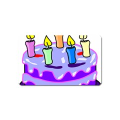 Cake Happy Birthday Magnet (name Card) by Nexatart
