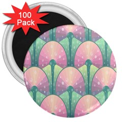 Seamless Pattern Seamless Design 3  Magnets (100 Pack)