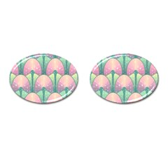 Seamless Pattern Seamless Design Cufflinks (oval)