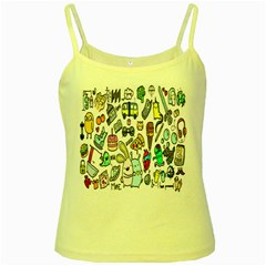 Story Of Our Life Yellow Spaghetti Tank