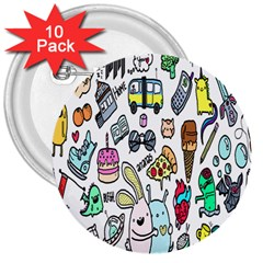 Story Of Our Life 3  Buttons (10 Pack)