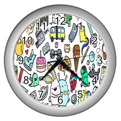 Story Of Our Life Wall Clocks (silver)