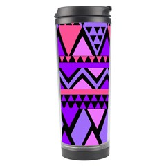 Seamless Purple Pink Pattern Travel Tumbler by Nexatart